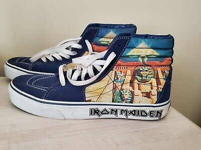 Vans Iron Maiden Power Slave Heavy Metal SK8-HI Skate Shoes US 9.5