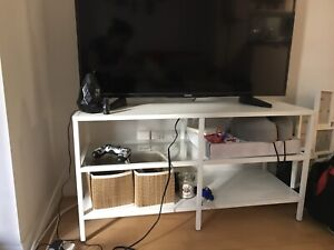 SELLING white IKEA tv stand