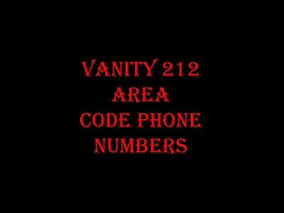 VANITY 212 PHONE NUMBER SET OF 12, 212-2x7-2000 TILL 212-2x7-2011