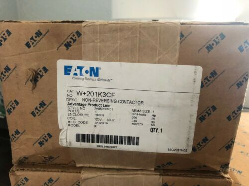 EATON W+201K3CF Size 3 Contactor Cutler Hammer NEW in BOX