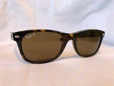 Ray Ban New Wayfarer Sunglasses RB2132 Tortoise Frame 55mm Brown Polarized Lens