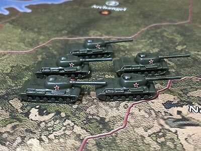 Axis And Allies Painted Pieces Russian Tanks (IS-2) X1