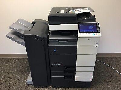 Konica Minolta Bizhub C754e Color Copier Printer Scanner Network Fax 300k Total