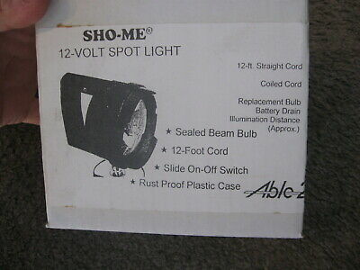 New Sho-me 12v Spot Light 12ft Cigarette Lighter Cord 35000 Cp  08.0335
