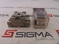 Image Potter & Brumfield KRPA-11DN-24 Relay W/ IDEC SR2P-05 Base