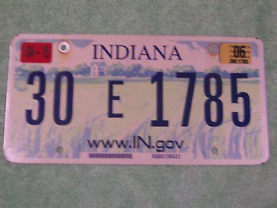 30 E 1785 = 2006 Hancock County Indiana License Plate    $4.00 Us Shipping