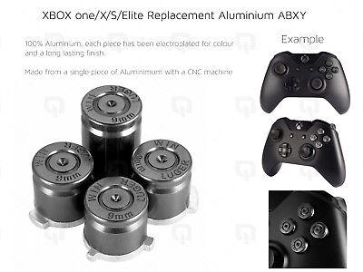 BLACK XBOX one/X/S Elite Microsoft Aluminium ABXY Buttons Key Set Keypads luger