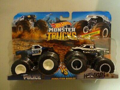 Hot Wheels Monster Trucks Demolition Doubles Police VS Hooligan