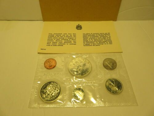 """1965 Canada Proof LIke """"Silver"""" Uncirculated Coin Set Original Packaging - 613"""