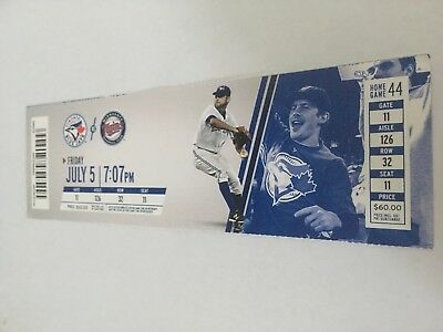 Mark Buehrle Win Jose Bautista Hr July 5 2013 7 5 13 Blue Jays Twins Full Ticket