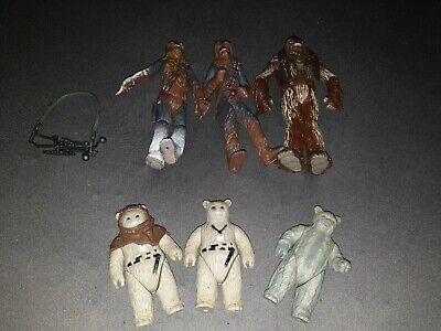 Star Wars wookie and Ewok figures and accessories