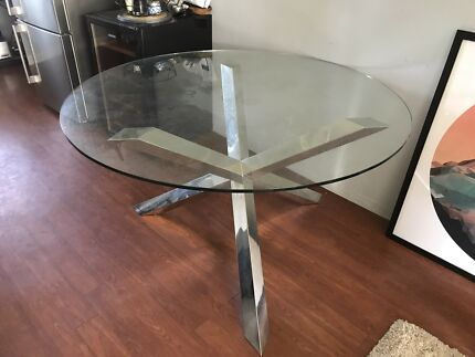 Nick Scali Modern Glass Table