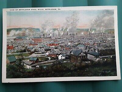 Post Card. Bethlehem Steel Mills