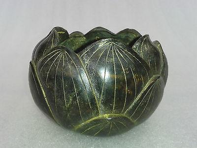 Lotus Topf Schale dunkle Bronze Räuchertopf Räuchergefäß Asiatika China Buddha