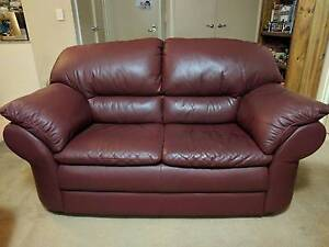 Brown Leather Sofa Meadowbank Ryde Area Preview