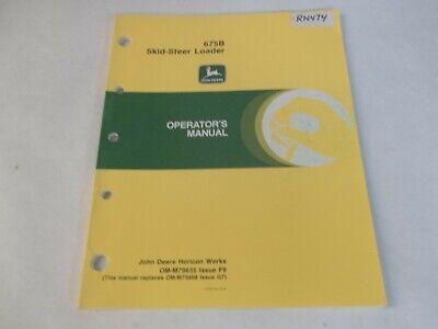 John Deere 675b Skid Steer Loader Operators Manual