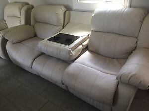 Leather reclining couch/chair set