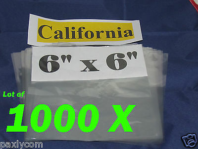 Lot Of 1000 Pieces Heat Shrink Wrap Film Flat Bags 6x6 Candles Pvc 6 X 6