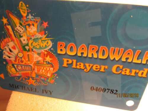 Boardwalk Casino- Las Vegas, NV.-Boardwalk Players -Slot Club Card- nice