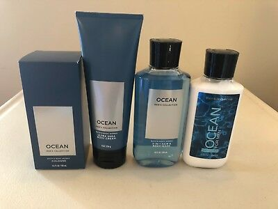 Bath & Body Works Ocean Collection For Men Body Lotion Cream Wash Cologne Pick (Mens Lotion)
