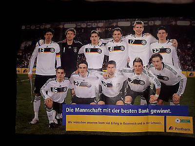 Konvolut Fussball Nationalmannschaft Werbematerial EM 2008 / WM 1998 / WM 2006