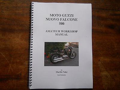 Moto Guzzi Nuovo Falcone 500 amateur workshop manual english text