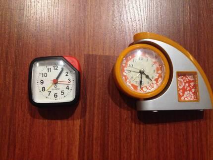 2 x Small Desk Table Alarm Clock Analog Portable Sydney City Inner Sydney Preview