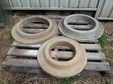 3 Concrete Circular Tree Rings $20 each or $50 the lot Erskine Park Penrith Area Preview