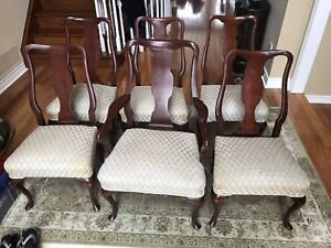 Antique Chair Set of  Six - Queen Anne Style