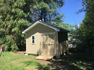 Storage sheds and garages for sale