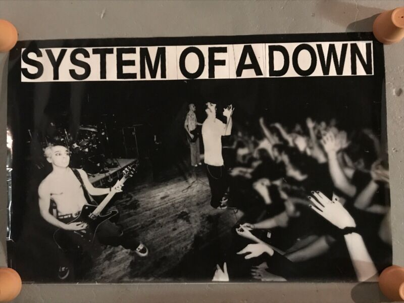 """System Of A Down - S/t Promo Poster 1997 Very Rare 🔥 Long OOP 36x23.5"""""""