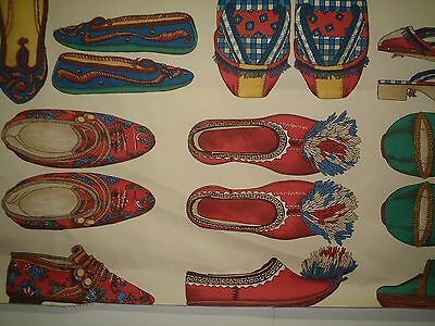 MANUEL CANOVAS FOLK FABRIC - STUNNING TEXTILE ART - SHOES