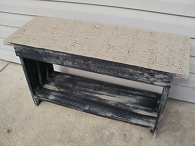 Bench Weathered Look Primitive Crackle (Rustic) Wood Rustic Wood Benches