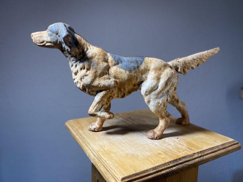 Mortens English Setter Metal Dog Figurine Collectible Vintage Door Stop