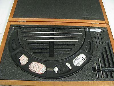 Starrett Model 224 9 - 12 .001 Outside Diameter Micrometer In Case Dx8