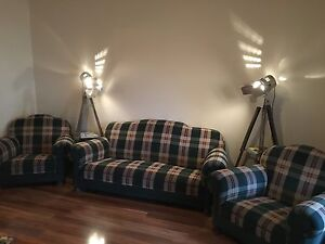 Vintage couch and armchairs Blair Athol Port Adelaide Area Preview
