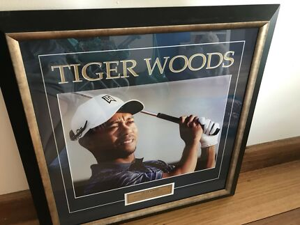 Tiger Woods Framed