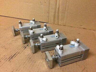 Lot Of 4 Festo Adn-32-40-a-p-a Dual Action Pneumatic Cylinder 1 12 Stroke