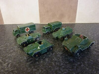 6x VARIOUS VINTAGE MATCHBOX MILITARY ARMY VEHICLES GOOD CONDITION FOR AGE for sale  Kings Langley