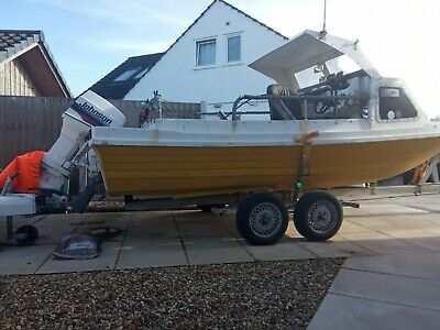 17ft fishing/workboat, very heavy duty trailer