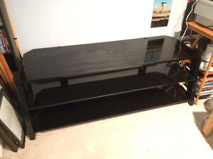 Tempered Glass and metal entertainment stand - high end