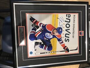 Taylor Hall Autographed 11 x 14 Framed Photo