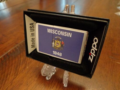 WISCONSIN STATE FLAG SERIES ZIPPO LIGHTER MINT IN BOX