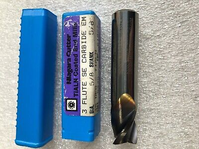 "4 flute Roughers end mills lot of 5 3//8 /"" 3.0 Oal coated 1.25 Loc"