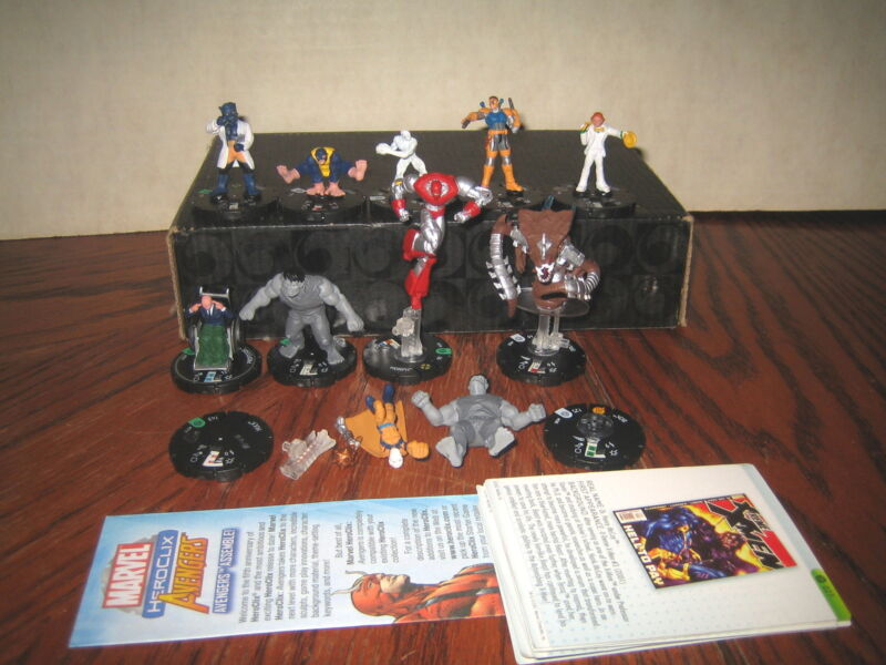 """10 RARE HTF SMALL FIGURES ETC...COLLECTABLE HEROCLIX  LOT """" SOLD AS IS """""""