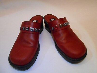 679741da8c3cd8  24.49. Tommy Hilfiger  69 Girls Women Mules Clogs Backless Shoes 6M Red ...