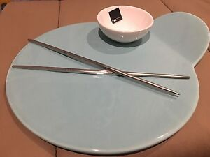 My Maison (m squared) turn Sushi plate with chopsticks Oakleigh South Monash Area Preview
