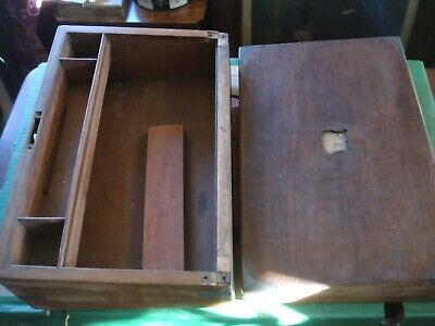 antique victorian writing slope box for restoration mahogany