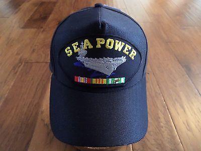 SEA POWER VIETNAM VETERAN U.S NAVY SHIP HAT OFFICIAL MILITARY BALL CAP U.S MADE