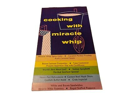 Vintage Cooking with Miracle Whip Recipe Booklet Kraft Miracle Whip Recipe
